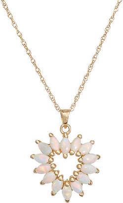 One Kings Lane Vintage Opal Heart Pendant & Necklace - Precious & Rare Pieces
