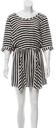 Mason Silk Short-Sleeve Mini Dress