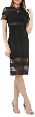 JS Collections Graphic Lace Body-Con Cocktail Dress