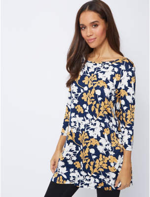 George Navy Floral Tunic
