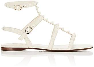 Valentino Women's Rockstud Leather Multi-Strap Sandals - White