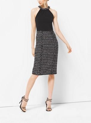 Michael Kors Silk and Tweed Sheath Dress