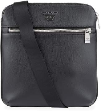 Emporio Armani Leather Messenger Bag