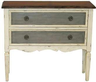 Generic Three Tone Distressed Hall Drawer Chest