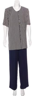 Alexis Striped Short Sleeve Pant Set