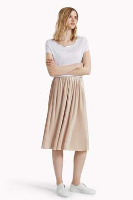 Great Plains Silver Plisse Pleated Skirt