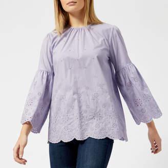 MICHAEL Michael Kors Women's Lace Sleeve Top