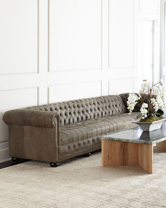 Old Hickory Tannery Wiley Chesterfield Leather Sofa
