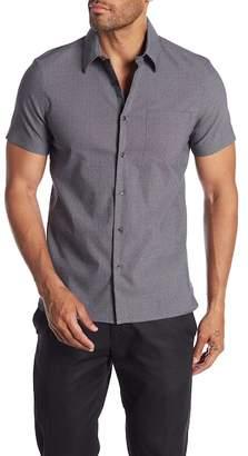 Perry Ellis Short Sleeve Stain Resistant Water Repellent Slim Fit Shirt