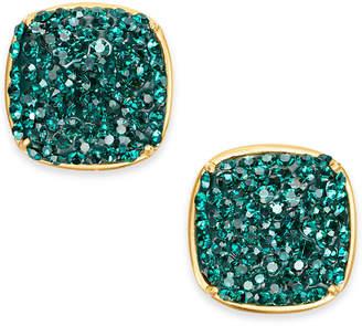 Kate Spade Gold-Tone Pavé Square Stud Earrings