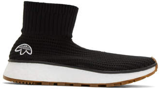 adidas by Alexander Wang Black Run Clean High-Top Sneakers