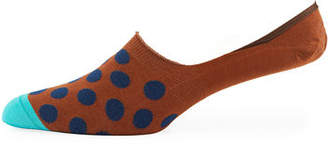 Paul Smith Dotted Cotton-Blend No-Show Socks