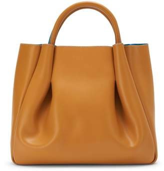 Alexandra de Curtis Ashley Midi Ruched Tote Oak