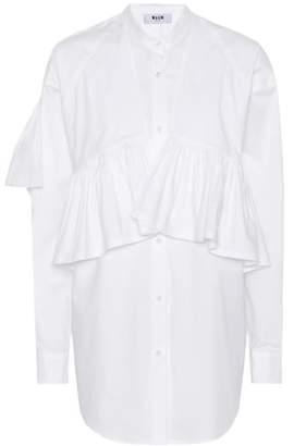 MSGM Ruffled cotton shirt