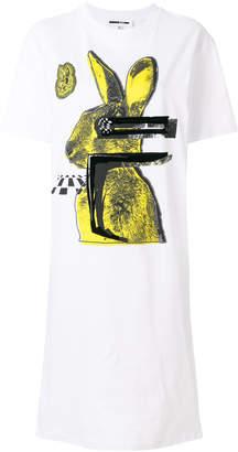 McQ bunny print t-shirt dress