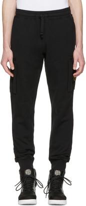 Stone Island Black Leg Patch Lounge Pants $230 thestylecure.com