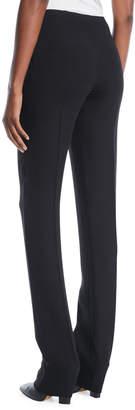 Valentino Side-Zip Silk Cady Skinny-Leg Pants