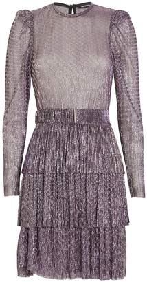 Sabina Musayev Monique Lurex Mini Dress