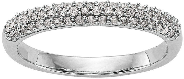 MODERN BRIDE Womens 1/4 CT. T.W. White Diamond 14K Gold Wedding Band