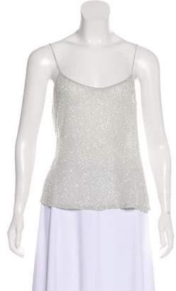 Ellen Tracy Linda Allard Sleeveless Silk Beaded Top
