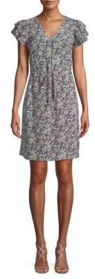 Rebecca Taylor Moonlight Mid-Thigh Silk Sheath Dress