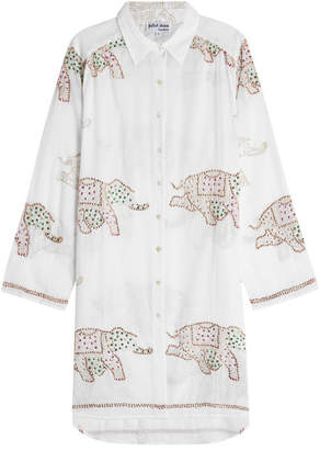 Juliet Dunn Embellished Cotton Shirt