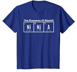 Ninja Element of Stealth Periodic Table of Elements T-Shirt