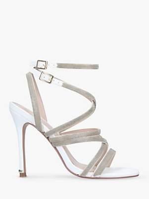 bb1b7515c97 Game Embellished Stiletto Heel Strappy Sandals, White