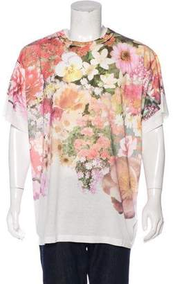 MM6 MAISON MARGIELA 2017 Floral Print Oversized T-Shirt