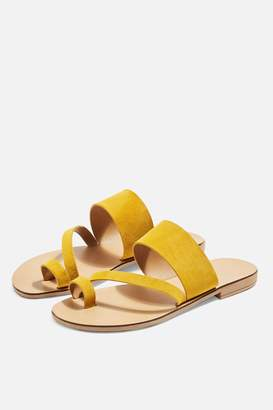 0e3910bf0cd Topshop Womens Hope Sandals - Mustard