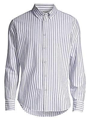 Rag & Bone Men's Tomlin Oxford Stripe Button-Down Shirt