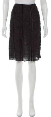 Prada Silk Knee-Length Skirt