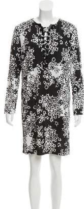Diane von Furstenberg Nana Silk Long Sleeve Dress