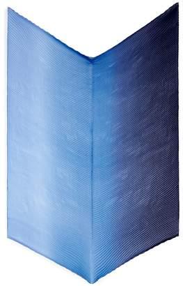 Franco Ferrari Ombré plissé pleated silk scarf
