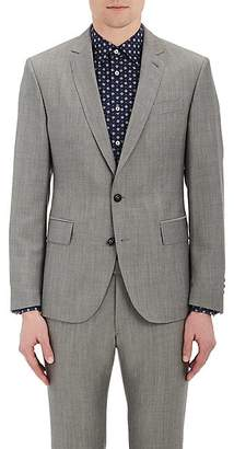 Brooklyn Tailors BROOKLYN TAILORS MEN'S END-ON-END COTTON-MOHAIR TWO-BUTTON SPORTCOAT - LIGHT GRAY SIZE 5
