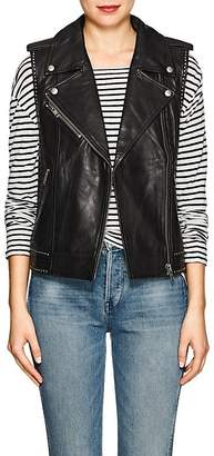 Zadig & Voltaire WOMEN'S LEXY STUDDED LEATHER MOTO VEST