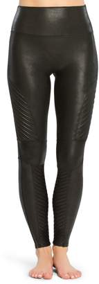 Spanx R Faux Leather Moto Leggings