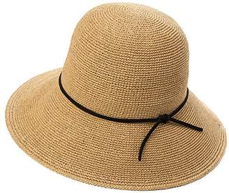 Jeff   Aimy Ladies Floppy Straw Sun Hat Wide Brim UPF UV Protection  Foldable Stylish Panama cf9972d43210