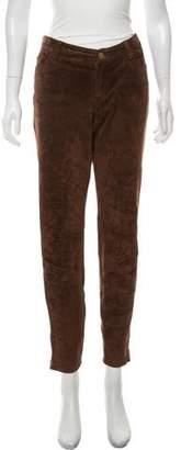 MICHAEL Michael Kors High-Rise Skinny Suede Pants
