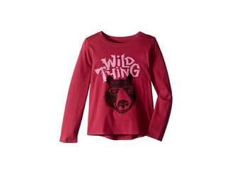 Life is Good Wild Thing Bear Crusher T-Shirt Long Sleeve (Little Kids/Big Kids)