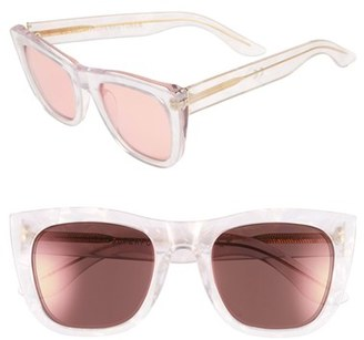 Women's Super By Retrosuperfuture 'Gals Pool' 52Mm Sunglasses - Clear/ Pink $300 thestylecure.com