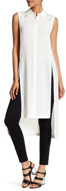 DKNY DKNY Sleeveless Slit Hi-Lo Tunic