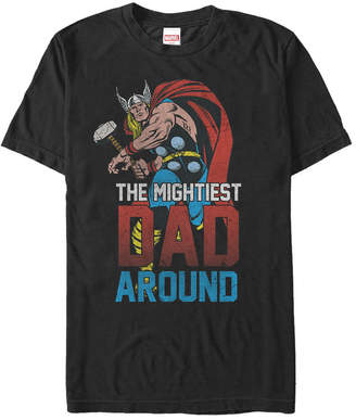 Marvel Men Comic Collection Classic Thor The Mightiest Dad Around Short Sleeve T-Shirt