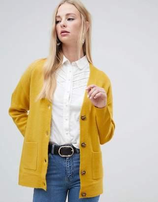 Warehouse cardigan in mustard
