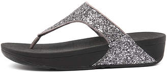 FitFlop Glitterball toe-post Pewter Sandals Womens Shoes Casual Sandals-flat Sandals