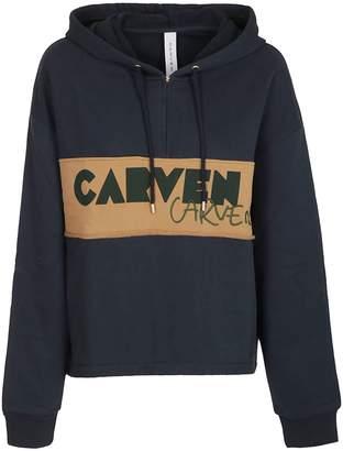 Carven Logo Panel Hoodie