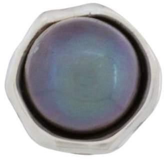 E.m. pearl stud earring