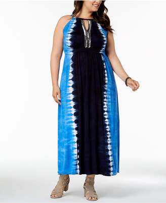 INC International Concepts I.n.c. Plus Size Tie-Dyed Maxi Dress, Created for Macy's