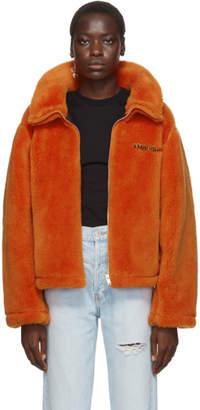 Ambush Orange Wool Fleece Jacket