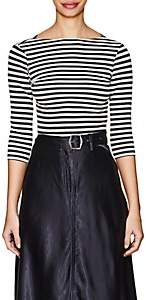 Barneys New York Women's Striped Cotton Jersey T-Shirt - Navy